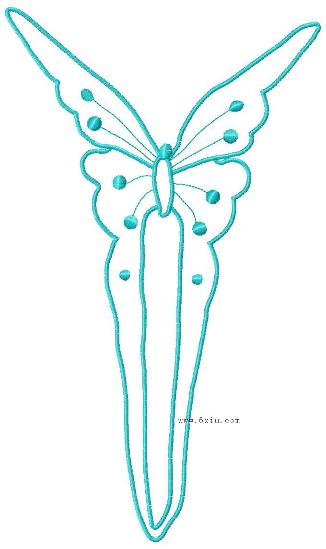 抽象蝴蝶版带