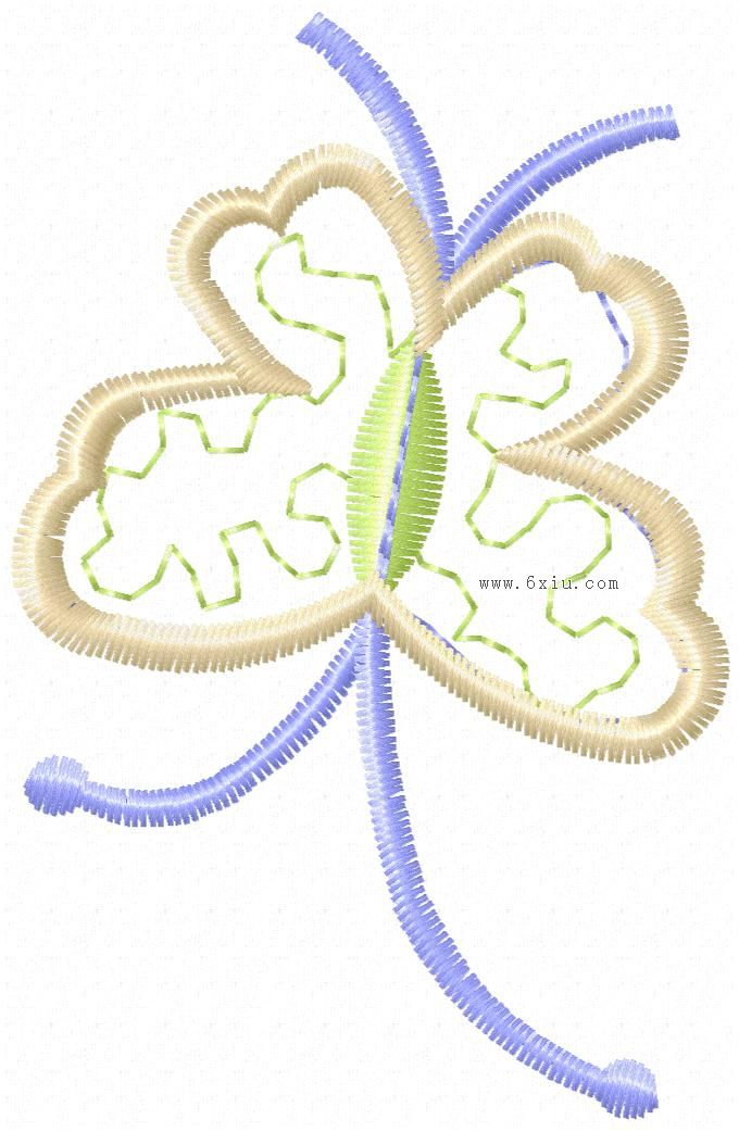蝴蝶图案图案_刺绣图案绣花花样版带下载